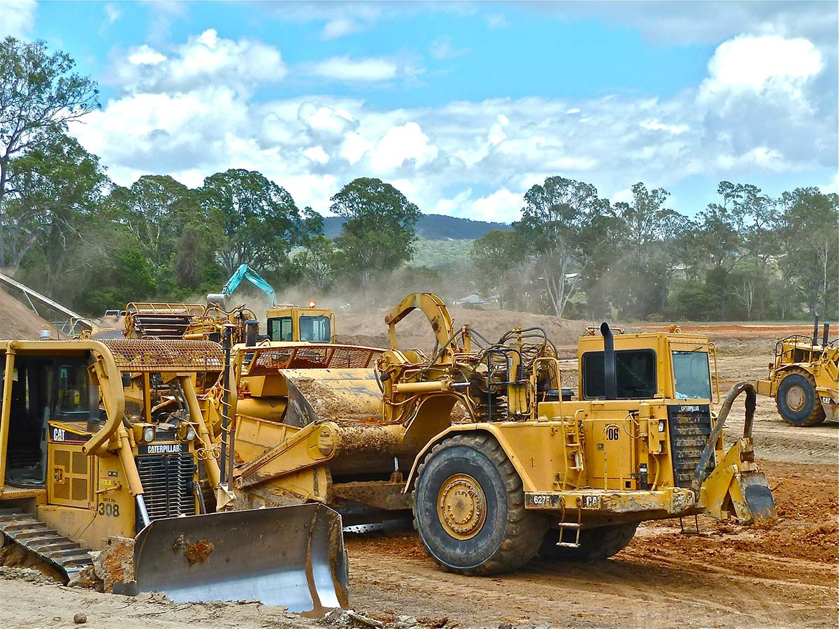 Ground leveling and tree clearing services